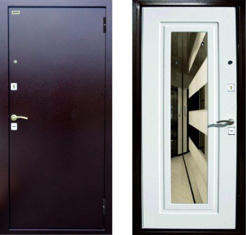 Дверь металлическая «ДС-03» с зеркалом