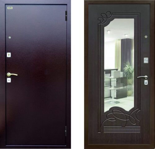 Дверь металлическая «ДС-09» с зеркалом