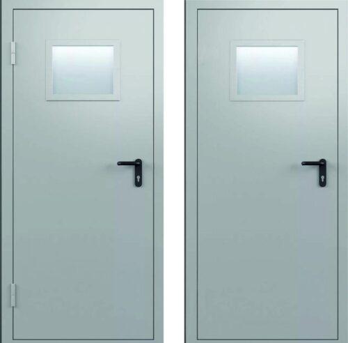 Дверь противопожарная одностворчатая с остеклением