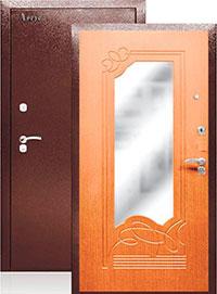 Входная дверь из металла с зеркалом «Ольга»