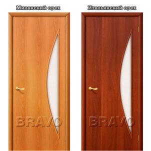 Ламинированная дверь 4С5 со стеклом