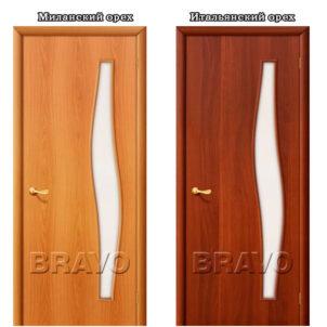 Ламинированная межкомнатная дверь 4С6 со стеклом