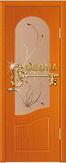 Деревянная дверь «Анастасия» со стеклом и фьюзингом