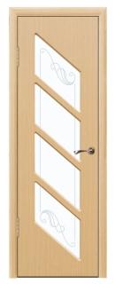 Межкомнатная дверь со стеклом «Домино»