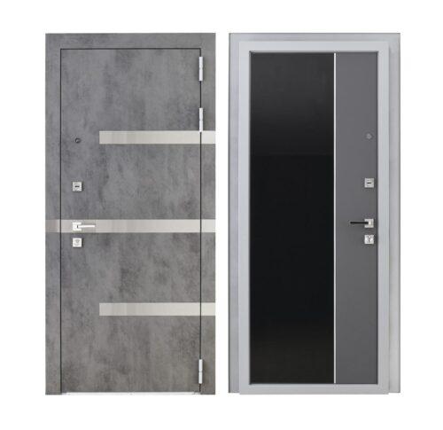 Входная дверь с наружной панелью «Фьюче»