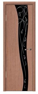 Межкомнатная фантазийная дверь со стеклом «Кармен»