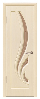Межкомнатная дверь со стеклом «Лотос»