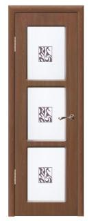Межкомнатная дверь со стеклом «Люси №3»