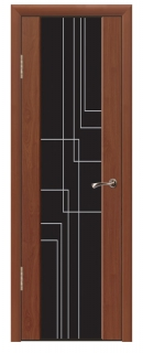 Межкомнатная дверь со стеклом «Люкс №17»