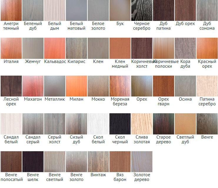 Все цвета для дверей МАГ