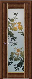 Межкомнатная дверь «Орхидея» со стеклом