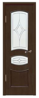 Межкомнатная шпонированная дверь «Алина» со стеклом