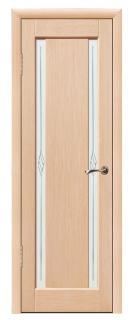 Межкомнатная шпонированная дверь «Классика» со стеклом