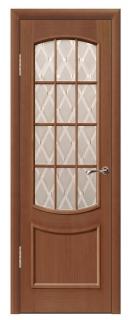 Межкомнатная шпонированная дверь «Ника» со стеклом