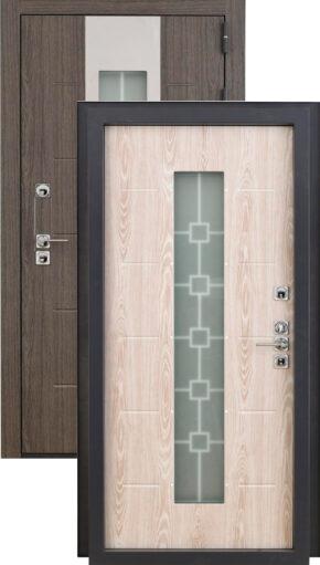 Входная дверь «Сибирь» с терморазрывом и стеклопакетом