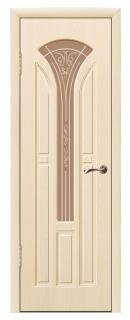 Межкомнатная дверь со стеклом «Тюльпан»