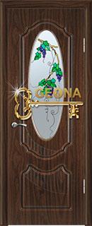 Межкомнатная дверь «Венеция» с витражом