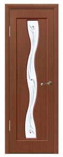 Межкомнатная дверь со стеклом «Волна»