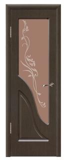 Межкомнатная дверь со стеклом «Жасмин»
